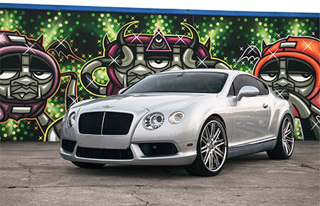 bentley continental gt forged wheels agl12 brushed polished monoblock