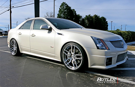 cadillac cts v forged wheels concave brushed polished agl26