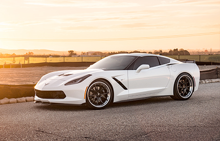 chevrolet corvette c7 forged wheels gloss black agl23 concave