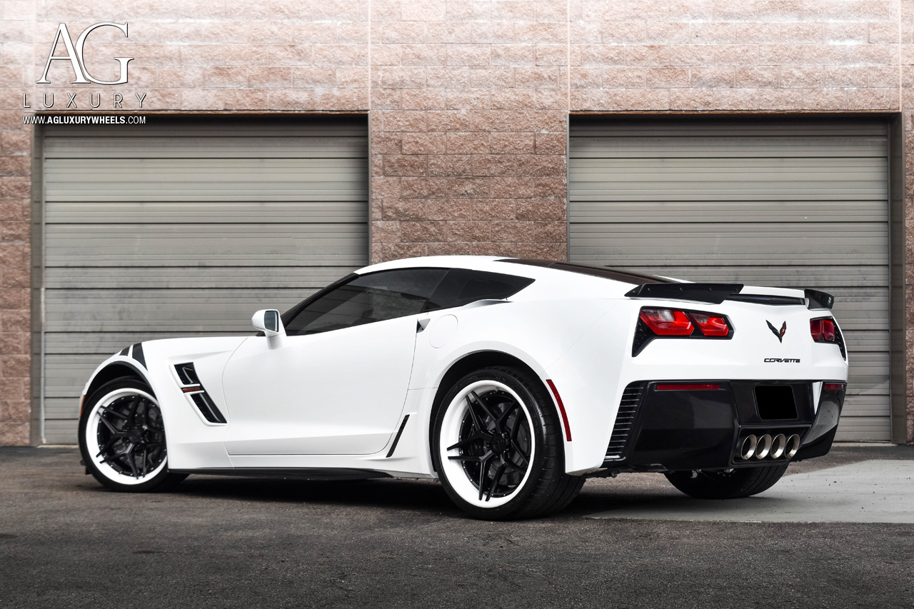 agl42 agl forged forge concave custom 20inch 19inch 21inch 22inch 22s 20s 19s 21s 24 inch 24inch chevy chevrolet corvette z06 zr1 stingray grandsport zl1 artic 3lt white spec3 three piece floating spoke extended spoke leg black face white lip gloss chrome hardware  Aston Martin Audi Bentley BMW Cadillac Ferrari Jaguar Lamborghini Land Rover Maserati Maybach Mercedes-Benz Porsche kctrends kc trends kctrendsmotorsports motorsports exotic american muscle car cars