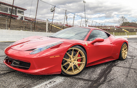 ferrari 458 italia forged monoblock wheels brushed sunburst gold