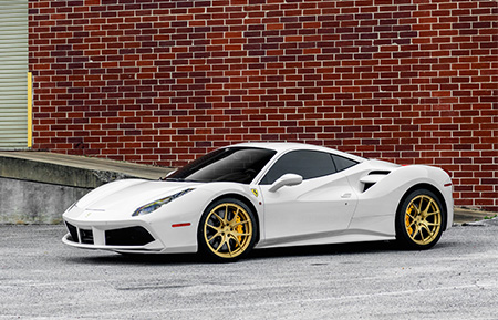 ferrari 488 gtb forged wheels agl23 concave metallic gold