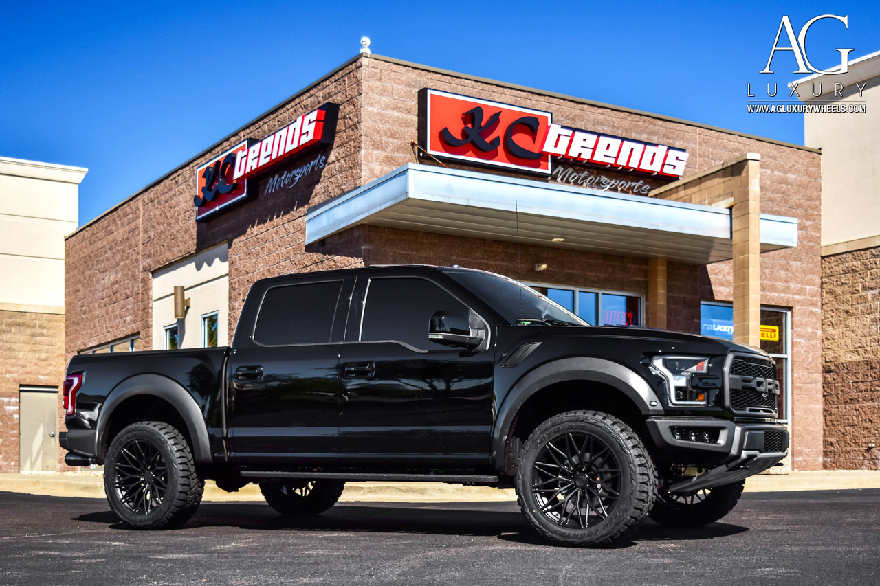 ford raptor brandon rush offroad lifted agluxury avant garde agwheels wheels wheel luxury rims agl40 duo block gloss black matte concave mesh ten spoke 10spoke 10 split