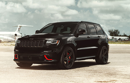 jeep grand cherokee srt srt8 gloss black concave forged wheels agl15