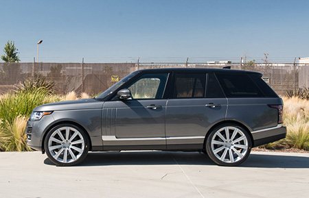 land rover range rover custom forged wheels agl11 gloss silver