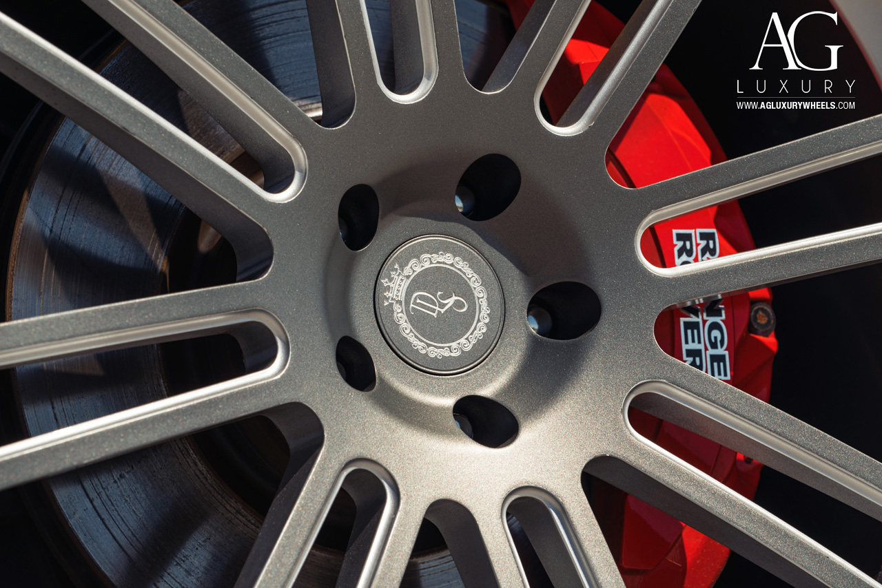 gray range rover 24 inch forged monoblock concave two tone wheels