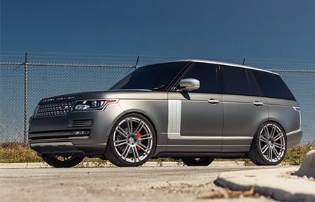 land rover range rover custom forged wheels agl14 oem color match