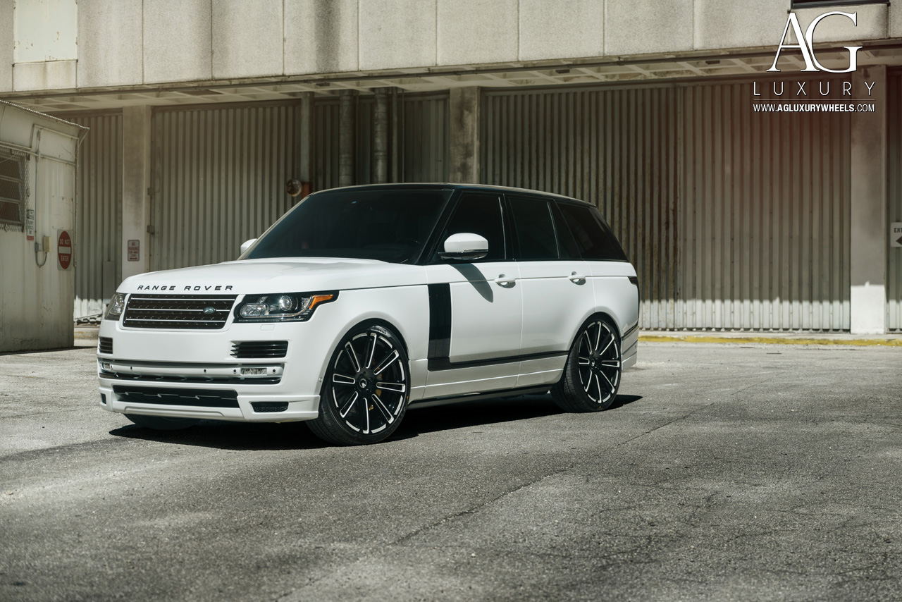 Land Rover Range Rover Agl Gloss Black White Accents on Land Rover Car