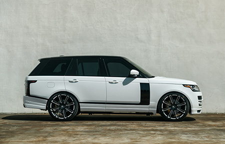 land rover range rover custom forged wheels gloss black agl14