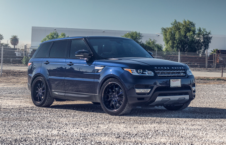 land rover range rover custom forged wheels agl17 oem color match blue