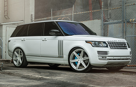 land rover range rover forged wheels gloss white brushed accents concave agl22