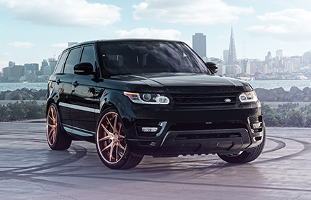 land rover range rover sport forged wheels polished copper agl23 concave