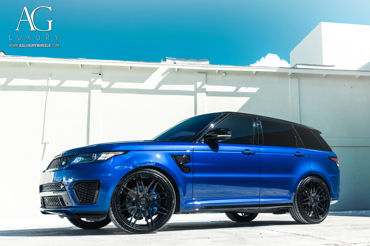 agl44 gloss black monoblock agwheels avant garde agluxury luxury wheel wheels rim rims range rover land svr mccustoms miami suv sport concave mesh split spoke