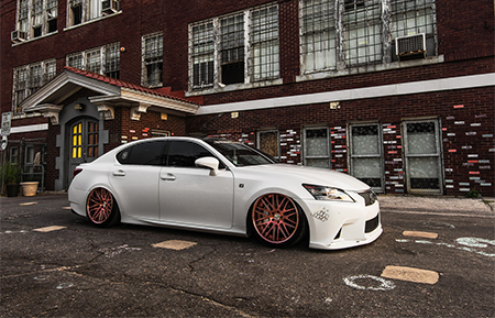 lexus gs 350 fsport agl10 brushed rose gold air suspension custom forged wheels
