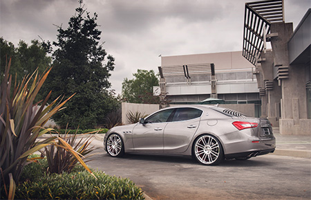 maserati ghibli monoblock forged wheels brushed polished agl14