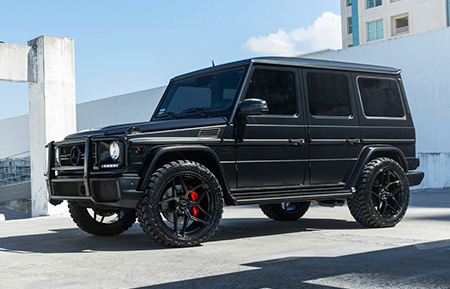 mercedes benz g63 g class wagon amg forged wheels gloss black monoblock