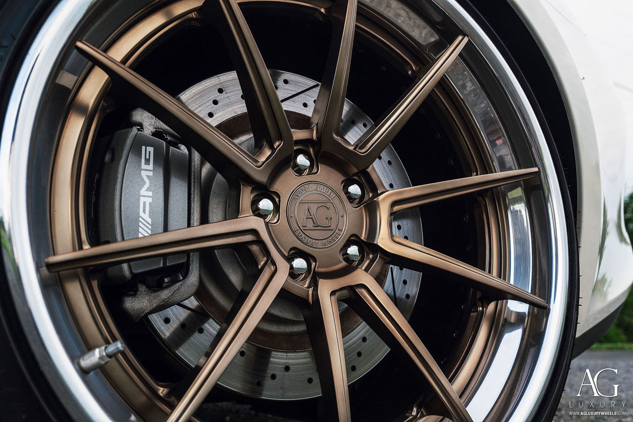agluxury wheels agl31 spec3 matte highland bronze polished clear lip custom concave forged bespoke rims mercedes-benz amg gtr gt gts gt-r anrky adv1 vossen rotiform forgiato 19in 20in