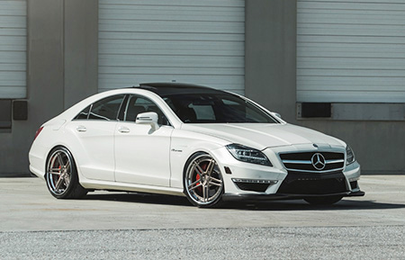 mercedes benz cls63 amg cls custom forged wheels agl15 brushed frozen latte