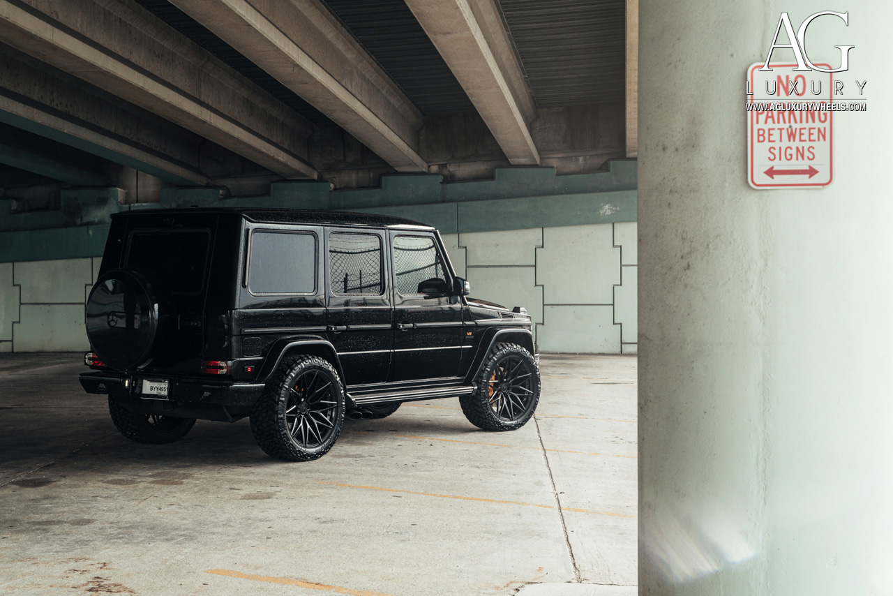 black mercedes benz g63 amg forged concave duo block black wheels 22 inch g wagon