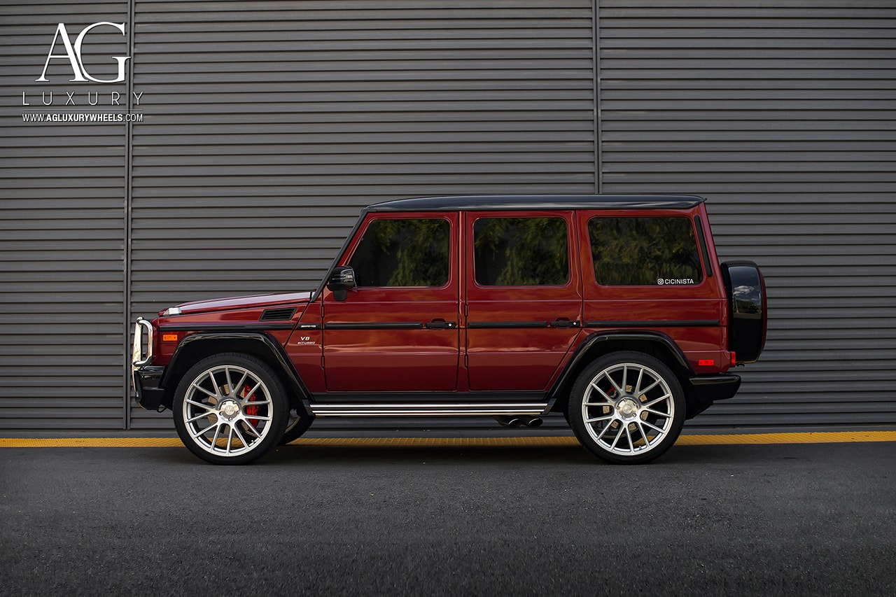 Red Mercedes Benz G63 Amg Mesh Rims Wheels Concave Custom Flow Form Rotary Forged Suv 24inch