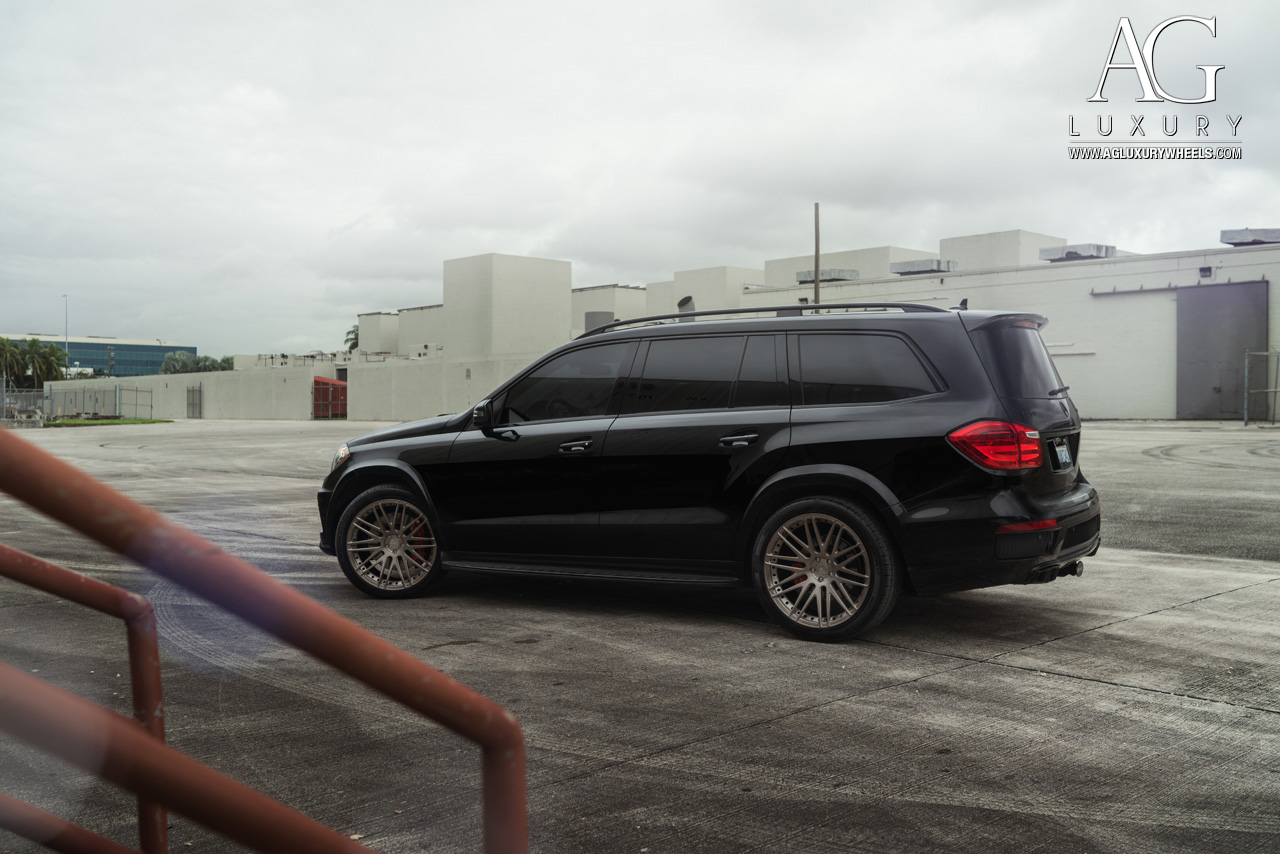 black mercedes benz gl 63 amg 22 inch forged concave mesh bronze wheels duo block