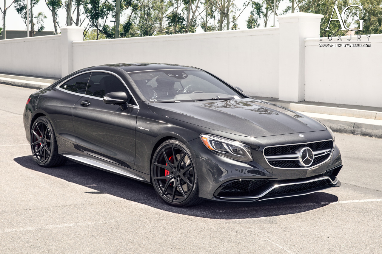 Gray Mercedes Benz S63 Amg Coupe Forged Concave Molock Staggered Black Wheels W222 S Cl