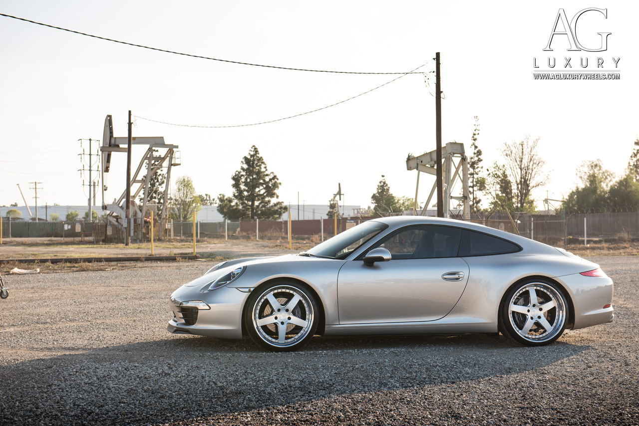 porsche 991 carrera forged staggered brushed five spoke wheels