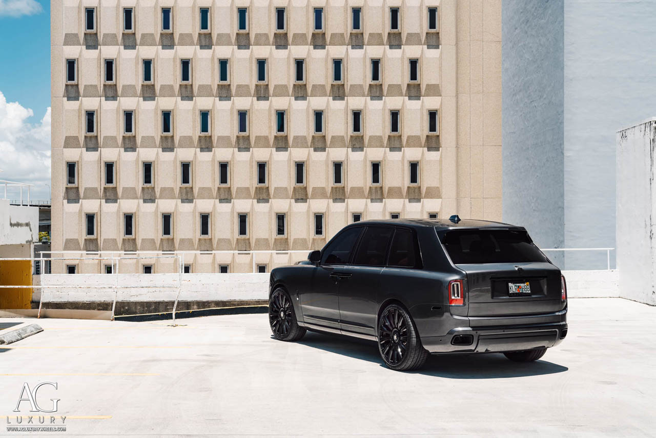 agluxury wheels agl48rr agl48 gloss black monoblock custom concave forged bespoke rims 24in 24inch rolls-royce cullinan suv luxury vellano forgiato vossen adv1 anrky rotiform