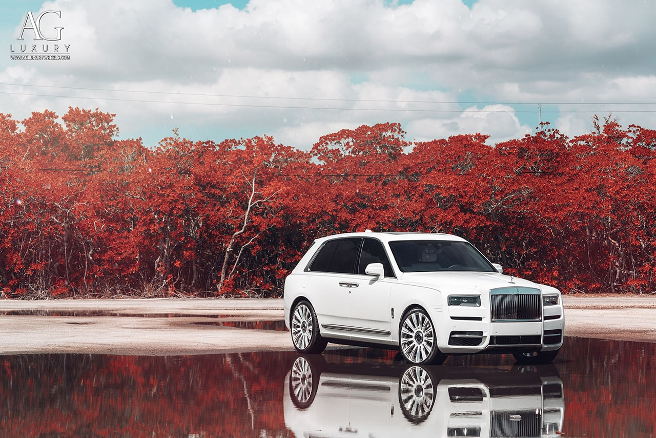 rolls royce cullinan suv agluxury wheels agl48 agl48rr monoblock two tone forged custom concave forgiato 24in 24inch vellano vossen miami mccustoms william stern