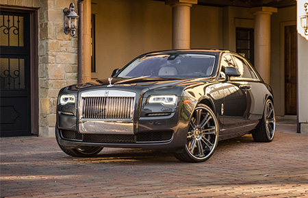 rolls royce ghost custom forged wheels agl14 brushed gunmetal grigio