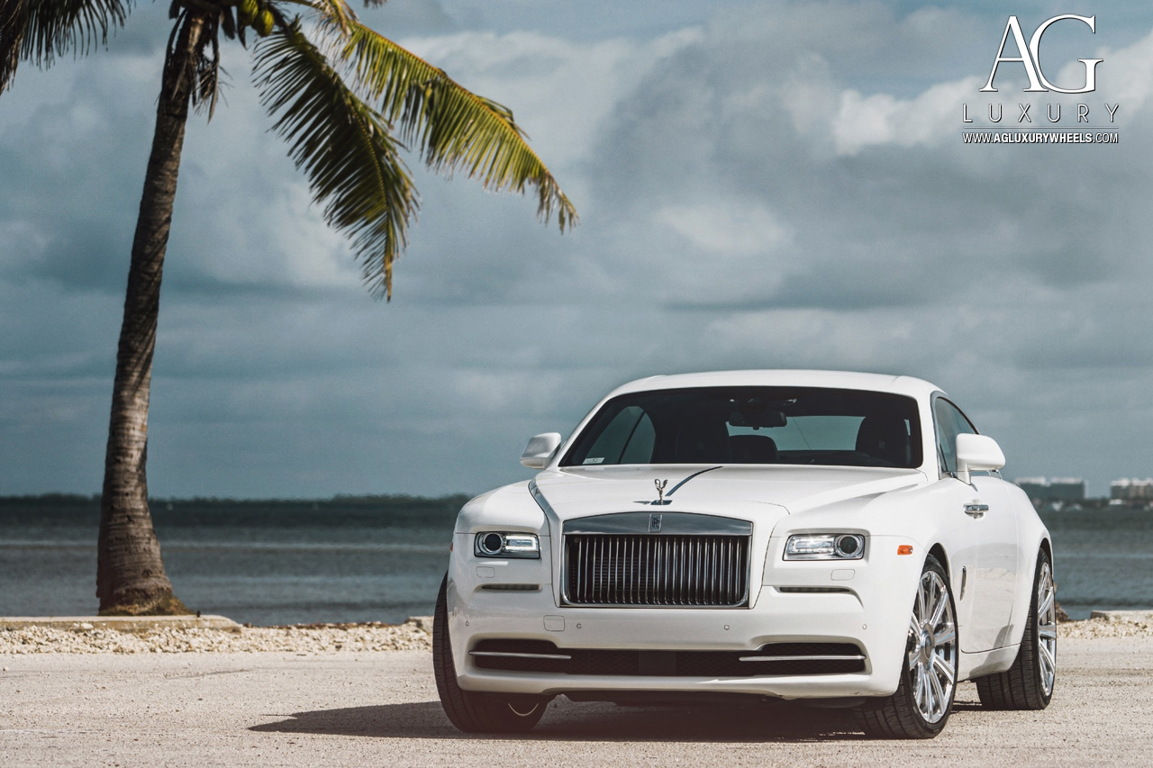 rolls royce wraith white. white rolls royce wraith 22 inch forged monoblock concave staggered wheels brushed polished