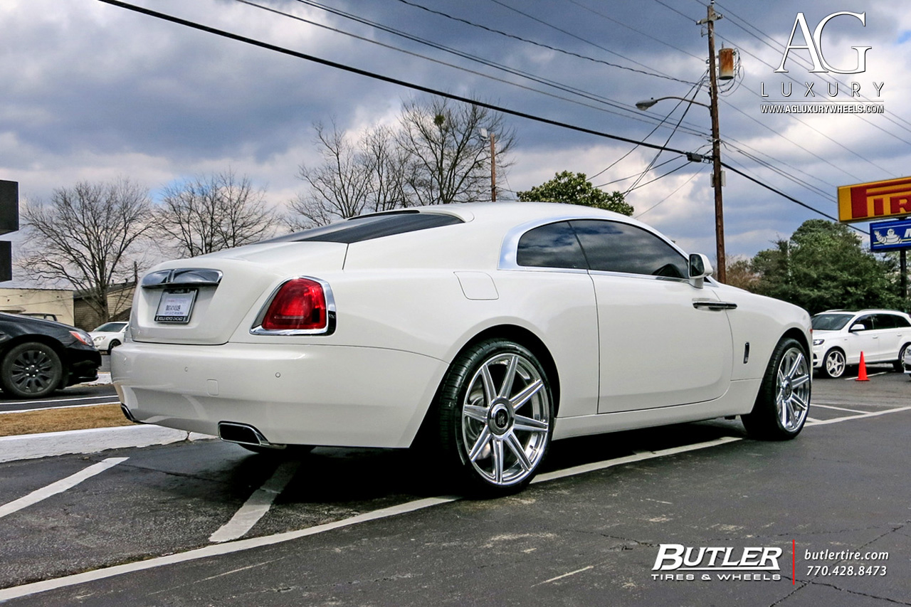 rolls royce wraith black rims. white rolls royce wraith 22 inch forged concave staggered brushed polished wheels duo block black rims