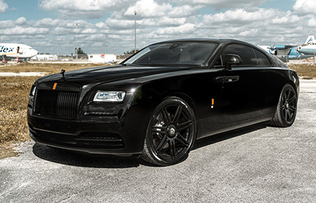 rolls royce wraith forged monoblock wheels agl36 gloss black concave