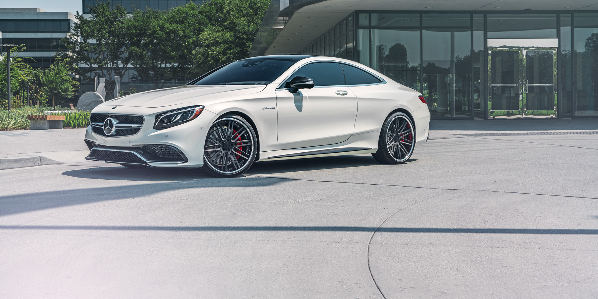 Mercedes S63 AMG Coupe forged concave black wheels