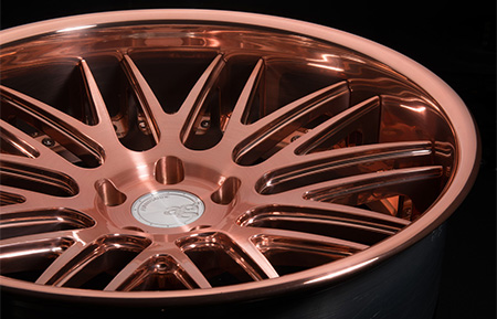 agl10 spec2 concave custom forged wheels brushed rose gold 3 piece