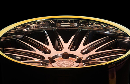 agl10 spec2 concave polished copper neo chrome lip custom forged 3 piece wheels