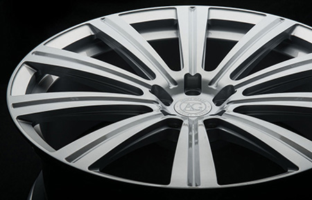 agl11 monoblock concave custom forged wheel gloss silver metallic finish