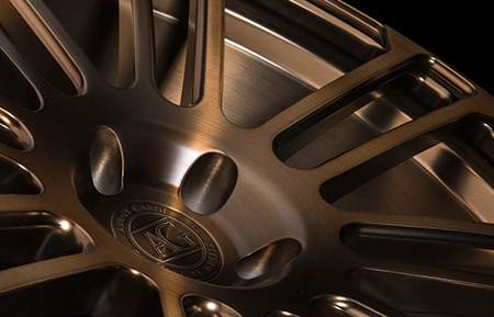 agl14 custom forged monoblock concave wheels matte brushed antique bronze