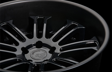 agl14 concave forged wheels gloss black matte lip