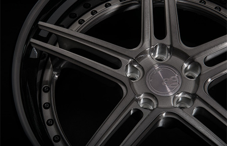 agl15 spec3 concave forged wheels brushed grigio gunmetal gloss black lip