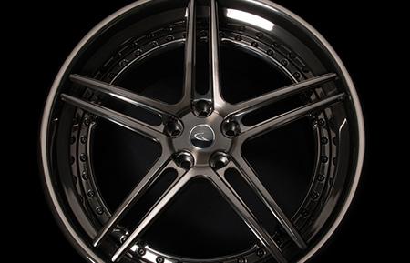 agl15 spec3 concave wheels forged brushed black smoke mirror