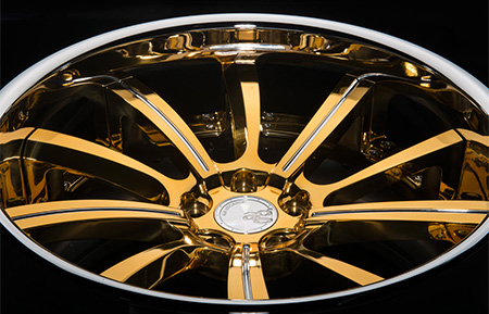 agl17 spec2 concave gold bullion polished accents chrome lip 3 piece forged wheels