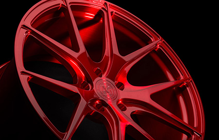 agl23 monoblock forged concave wheels brushed candy apple red