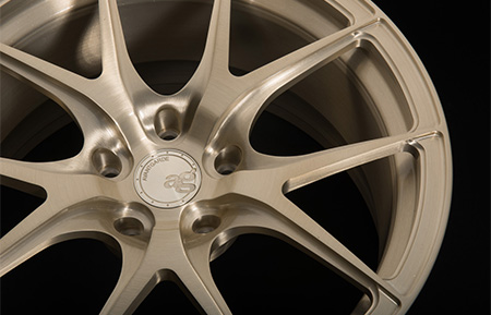 agl23 monoblock forged wheels brushed champagne