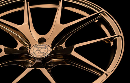 agluxury avant garde agwheels avangarde agl23 monoblock forged wheels polished liquid bronze rims rim wheel