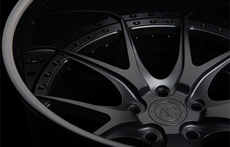 agl23 spec1 concave forged wheels gloss black matte black