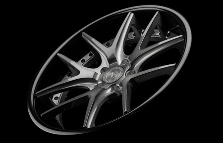 agl23 spec2 agluxury agwheels avant garde wheels wheel rim rims forged concave brushed grigio face gloss black lip stance