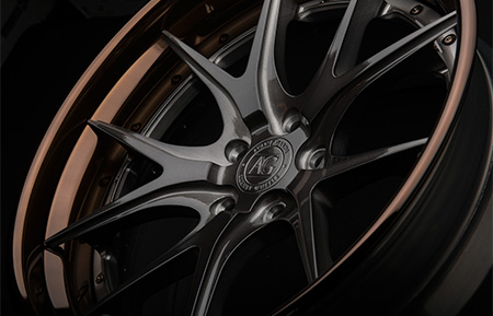 agl23 spec3 forged concave wheels brushed gunmetal liquid bronze