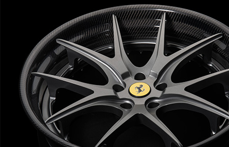 agl23 concave forged wheels gunmetal carbon fiber lip