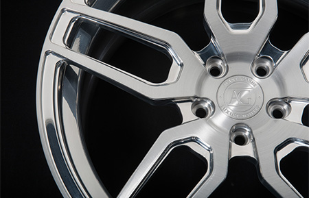 agl26 duo block forged wheels brushed polished